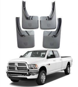 Genuine Oem Set Deluxe Molded Splash Guards Mud Flaps For 2009 2018 Dodge Ram