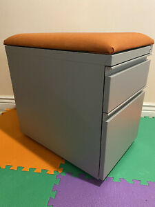 Allsteel Steel Metal 2 Drawers Mobile File Cabinet Pedestal Local Pickup Only