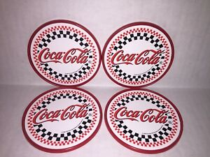 Vintage 1996 Coca Cola Coasters set of 4 plastic round
