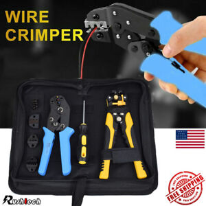 Wire Crimpers 4 In 1 Ratcheting Terminal Crimping Pliers Cord End Terminals Tool