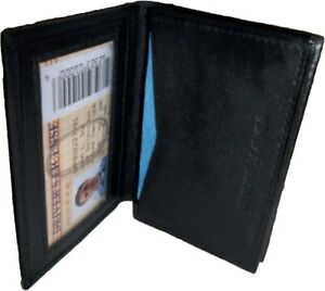 Leather Business Credit Card Holder Fifty Card Case Id Window