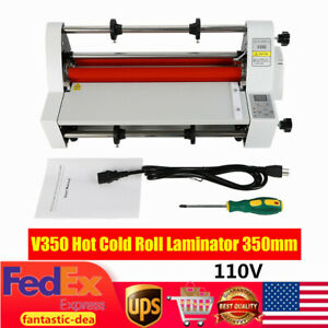 13 Laminating Machine Hot Cold Roll Laminator With Single dual Side 110v 350mm