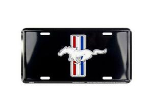 Ford Mustang Black License Plate Sign