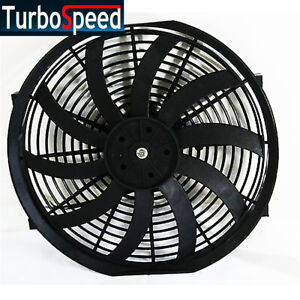 New 14 S Universal Slim Fan Push Pull Electric Radiator Cooling W Mount Kit
