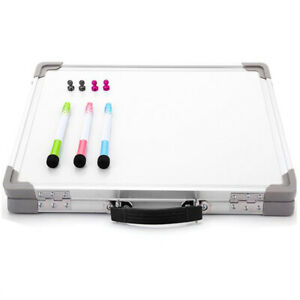1x small Dry Erase Whiteboard portable Single sided Magnetic Whiteboard Fo H4g7