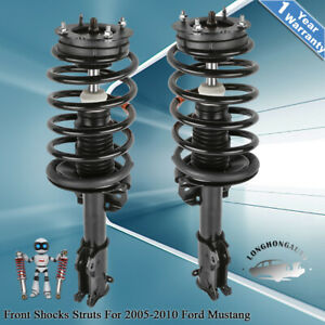 Front Quick Struts Shocks Assy For 2005 2010 Ford Mustang 4 0l 4 6l
