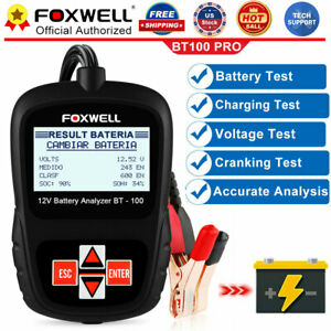 Foxwell Bt100 Pro Car Battery Load Tester 12v Auto Digital Analyzer Monitor