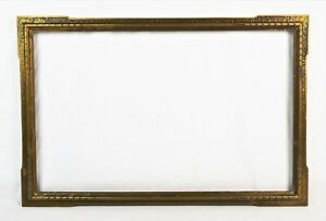 Antique Art Nouveau Ornate Gold Gesso Picture Frame Fits 22 X 14