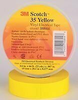 3m 35 Yellow 3 4 x66ft Tape Insulation Pvc Yel 0 75inx66ft 100 Pieces