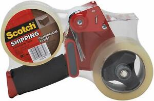 Scotch Commercial Grade Shipping Tape 2 Rolls Of Tape 1 Dispenser 3750 2 st
