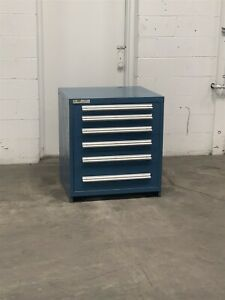 Used Stanley Vidmar 6 Drawer Cabinet 33 High Industrial Tool Storage 2204