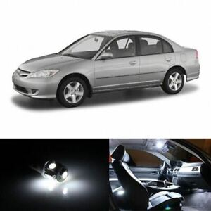9x Hid White Interior Led Lights Package Kit Fits 2001 2005 Honda Civic