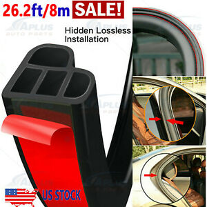 26ft L Shape Car Door Rubber Seal Strip Hood Trim Edge Moulding Weatherstrip