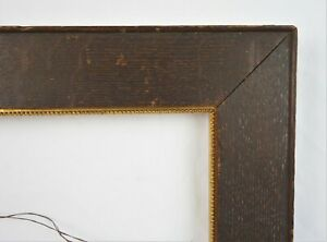 Antique 19th C Victorian Oak Gold Gilt Gesso Picture Frame Fits 13 75 X 10 75