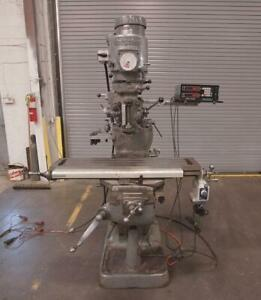 Bridgeport 1j Vertical Milling Machine With Acu rite Ii 2 Axis Dro