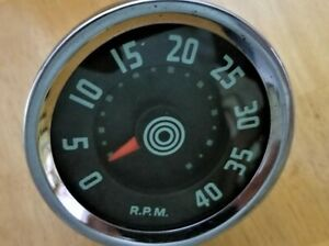1955 1956 International Harvester Trucks 4000 Rpm Stewart Warner Tachometer Tach
