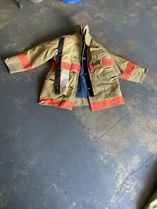 Firefighter Set Fire Dex Jacket Pants 48 40 Suspenders Turn Out Gear Goretex
