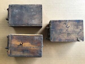 Antique Ford Model T Or Model A Wood Battery Box Ignition Coil Lot Of 3 Boxes