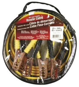 12 Battery Jumper Cables 8 Gauge Black Yellow Great For Industrial Applications