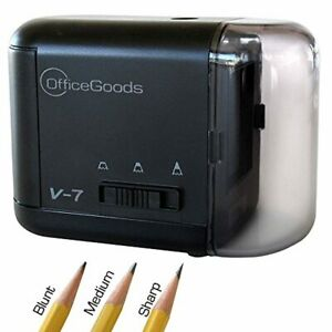 Officegoods Electric Battery Operated Pencil Sharpener V 7 Black