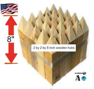 Wooden Survey Stakes Hubs 2by2by8 Construction Sites Land Survey Allenbuild