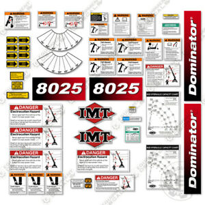 Imt 8025 Decal Kit Boom Truck Warning Stickers 3m Vinyl New Style