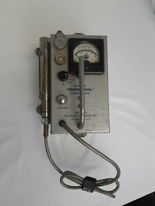Professional Geiger Counter Model 107 Usa Vintage Precision Radiation Detector