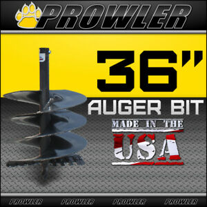 36 Auger Bit With Round Collar For Skid Steer Loaders 4 Length 36 Inch