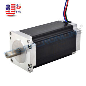High Torque Nema 23 Stepper Motor 3nm 425oz in 113mm 4 2a 4 lead 10mm Shaft Cnc