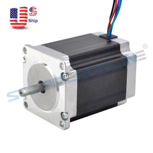 Nema 23 Stepper Motor 1 9nm 269oz in 2 8a 76mm Cnc Mill Robot Lathe 3d Printer