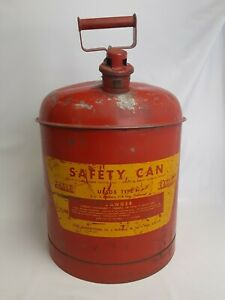 Eagle Safety Gas Can Ui 50 s 5 Gallon Vintage Automotive Accessories Gas Oil