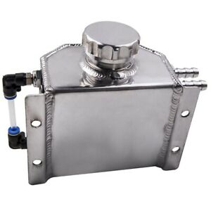 1l Aluminum Coolant Radiator Overflow Recovery Water Tank Bottle Silver Newest