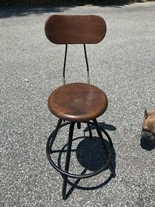 Vintage Mid Century Shop Stool Mean By Dependable