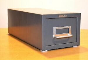 Vintage Cole Single Drawer Index Card File Industrial Metal Cabinet made In Usa