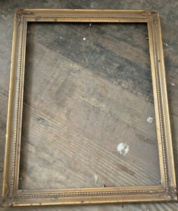 Vintage Wood Gold Gilded Ornate Carved 11 X 14 Picture Frame