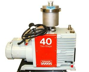 Edwards E2m40 Two Stage Rotary Vane High Vacuum Pump Working 7598 W