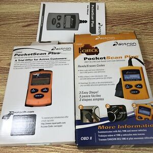 Actron Pocketscan Scan Tool Abs Obd ii Can Automotive Code Scanner Open Box