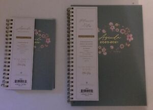2 Blue Sky Plum Pretty Sugar 2020 2021 Weekly monthly Planners W bookmarks pens