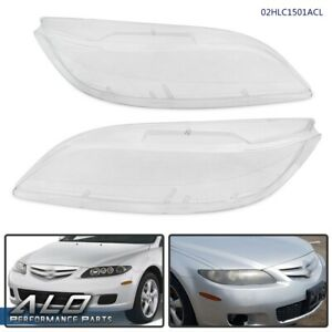 Front Left Right Headlight Lens Cover Replacement Clear For 2003 2008 Mazda 6