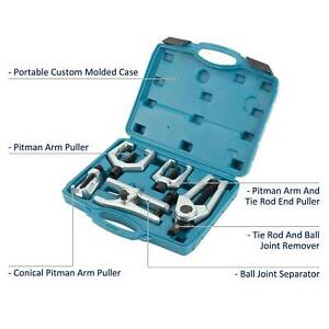 5 In 1 Pitman Arm Puller Ball Joint Separator Tie Rod Front End Tool Set W Case