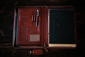 Leather Notebook Holder Leather Folio Compendium A4 Business Gift
