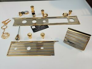 1963 Chevy Impala 24kt Gold Plated Dash Kit ash Tray Cover Not Included