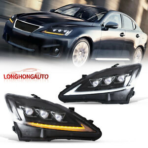 Pair Full Led Projector Headlight For 2006 2012 Lexus Is 250 Is 350 Isf Vland