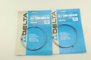 Lot Of 2 Delta 28 167 Bench Band Saw Blade Wood Cutting 56 1 8 inch By 1 8 inch