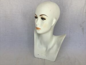 Female Mannequin Display Head Form Bust Makeup No Hair Excellent Condition H