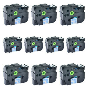 10pk Blue On White Tape Tz Tze 253 For Brother P touch 1500pc 580c Label Printer