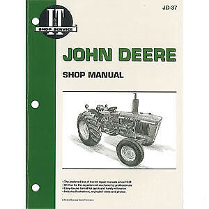 Shop Manual Fits John Deere 1020 1520 1530 2020 2030 Models Itjd37 Itjd37 a Jd 3