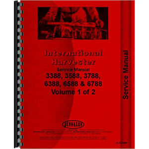 Service Manual Fits International Harvester 3388 3588 3788 6388 6588 6788 Models