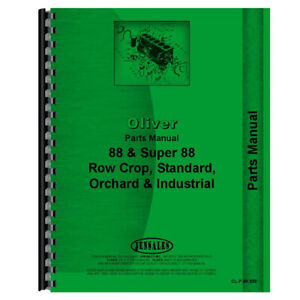 Parts Manual Fits Oliver Super 88 Models Rap80611 Rap80612