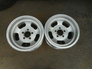 14 X 7 Shelby Cal 500 Slotted Mag Wheels 5x4 5 Slot Ford Mopar Old School